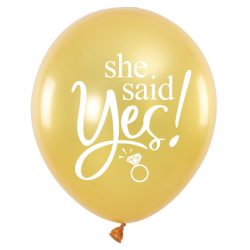 She said yes - Gold